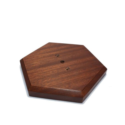 179mm Sanded Finish Sapele Hexagon Ceiling Rose Pattress